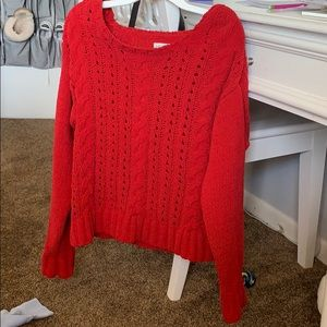 Aeropostale red cable knit sweater